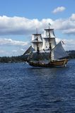 The wooden brig, Lady Washington Stock Photography
