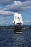 The wooden brig, Lady Washington, Royalty Free Stock Photography