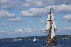 The wooden brig, Lady Washington Royalty Free Stock Photos