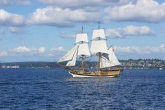 The wooden brig, Lady Washington Stock Photography