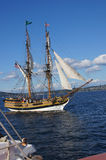 The wooden brig, Lady Washington Stock Photo