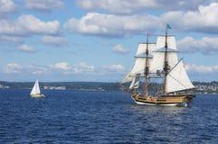 The wooden brig, Lady Washington Royalty Free Stock Photo
