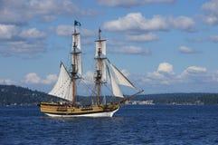 The wooden brig, Lady Washington Royalty Free Stock Image