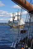 The wooden brig, Lady Washington Stock Image
