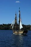 The wooden brig, Lady Washington, sails Stock Photo