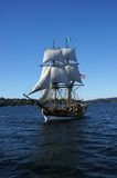 The wooden brig, Lady Washington, sails on Lake Washington Stock Images