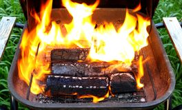 Wooden briquettes for BBQ Royalty Free Stock Photo