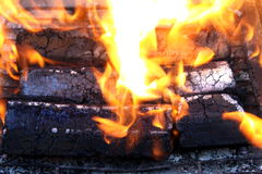 Wooden briquettes for BBQ Royalty Free Stock Image