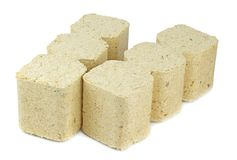 Wooden Briquettes for Burning Stock Images