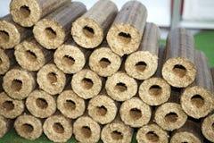 Wooden briquettes Stock Photography