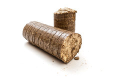 Wooden briquettes Stock Images