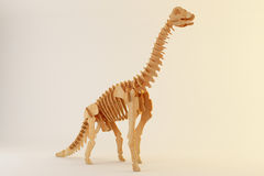 Wooden brontosaurus Royalty Free Stock Photos