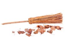 A wooden broom Royalty Free Stock Image