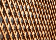 Wooden broun fence fragment royalty free stock photography