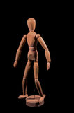 Wooden Brown Art Mannequin Royalty Free Stock Photo