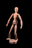 Wooden Brown Art Mannequin Royalty Free Stock Image