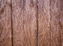 The wooden brown board peeled by a bear Royalty Free Stock Photography