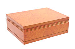 Wooden brown casket Royalty Free Stock Photography