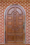 Wooden brown door Royalty Free Stock Image