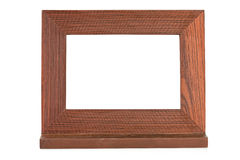 Wooden brown picture frame Stock Photo