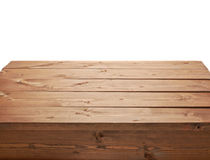 Wooden brown table fragment Royalty Free Stock Photography