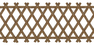 Wooden brown trellis-work fence Stock Images