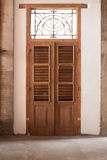 Wooden Brown Vintage Door Stock Photo