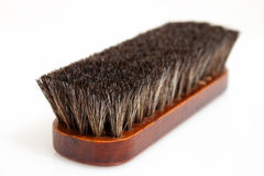 Wooden brush. Brush for man's shoes cleaning Royalty Free Stock Photos