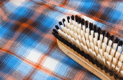 Wooden brush for cleaning Stock Image