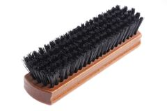 Wooden brush for cleaning clothes Stock Image