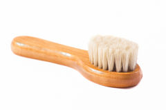 Wooden brush with natural fibers Royalty Free Stock Photo