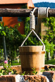 Wooden bucket Royalty Free Stock Images