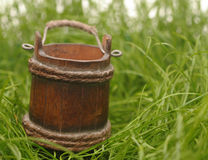 Wooden bucket Royalty Free Stock Photo