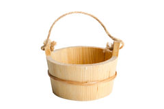 Wooden bucket Royalty Free Stock Photos