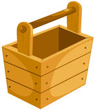 Wooden bucket. Illustration of isolated a wooden bucket on white Royalty Free Stock Photography