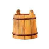 Wooden bucket, Antique wood bucket Stock Image