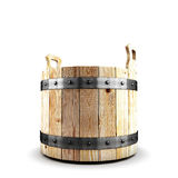 Wooden bucket for a bath Royalty Free Stock Photography