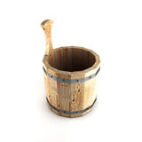 Wooden bucket for a bath Stock Photography