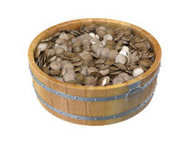 Wooden bucket Stock Images
