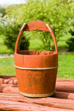 Wooden bucket Stock Image