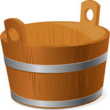 Wooden bucket isolated on white background - vector Stock Photography