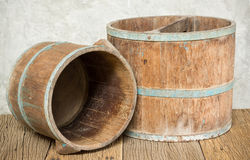 Wooden bucket Royalty Free Stock Photo