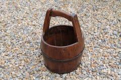 Wooden Bucket. Stock Photo