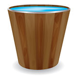 Wooden bucket,vector Stock Photo
