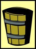 Wooden bucket vector illustration. Vector illustration of a wooden bucket Royalty Free Stock Photo