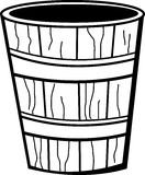 Wooden bucket vector illustration Stock Images