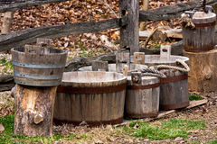 Wooden Buckets Stock Images