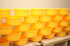 Wooden buckets for a bathhouse Royalty Free Stock Photos
