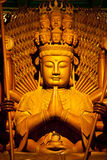 The wooden buddha. The woodenn buddha in Bangkok, Thailand Stock Photos