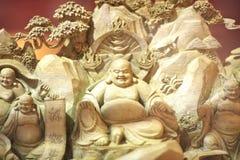 Wooden   buddha Stock Photography